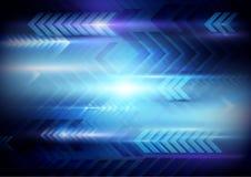 As setas abstratas fazem sinal tecnologia olá! ao fundo digital da tecnologia ilustração do vetor