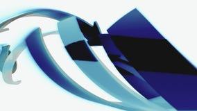 As setas 3D escuras movem-se no fundo branco, animação do CG, laço sem emenda ilustração do vetor