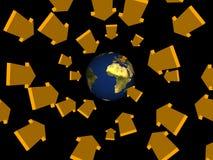 As setas vêm do espaço Imagem de Stock Royalty Free