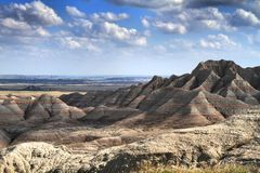 The Shadows Of Badlands Stock Photography