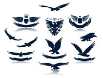 As silhuetas da águia ajustaram 3 Fotografia de Stock Royalty Free