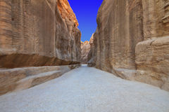 As-Siq Petra, Jordan. Royalty Free Stock Photography