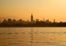 As skylines de New York City Imagem de Stock
