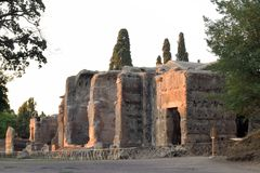 As sobras antigas de uma cidade romana de Lazio - Itália 219 Fotos de Stock Royalty Free