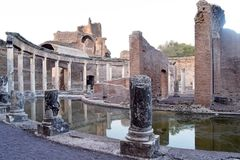 As sobras antigas de uma cidade romana de Lazio - Itália 231 Foto de Stock