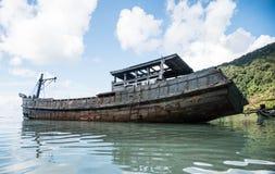 As sobras de navios antigos Imagem de Stock