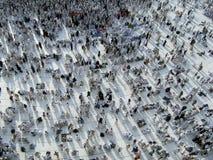 As sombras dos peregrinos reunem-se após a oração da tarde fotos de stock royalty free