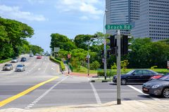 Beach road, Singapore is clean, orderly redevelopment. royalty free stock photography