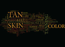 As Summer Fades Your Tan Doesn T Have To Word Cloud Concept Royalty Free Stock Photos