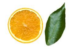 As tangerinas com folha imagem de stock royalty free