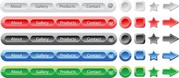 As teclas do vetor ajustaram moldes para o Web ilustração royalty free