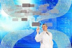 As tecnologias as mais novas do Internet Foto de Stock