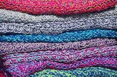 As telas coloridas de lãs Imagens de Stock