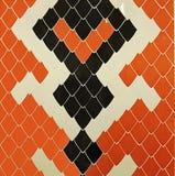 As telhas da serpente projetam o interior original do banheiro Foto de Stock