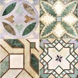 As telhas de mosaico bege projetam, decoração bonita do mosaico, mosaico de alta resolução fotografia de stock royalty free