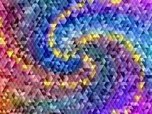 As telhas de mosaico geométricas coloridas abstratas dos triângulos texture o fundo Fotos de Stock