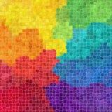 As telhas de mosaico rochosos plásticas de mármore da natureza texture o fundo com grout cinzento - cores completas do arco-íris  ilustração royalty free