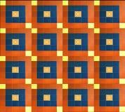 As telhas do desenhista esquadram com as pinturas do teste padr?o para dentro Projeto marroquino da telha imagens de stock