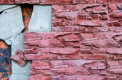 As telhas são quebradas na parede Imagem de Stock Royalty Free