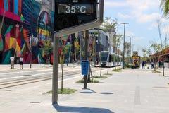 As temperaturas em Rio de janeiro permanecem acima de 40 graus Fotografia de Stock
