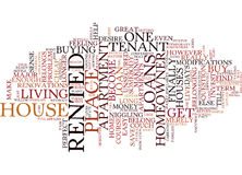 As The Tenant Turns Homeowner Word Cloud Concept Royalty Free Stock Photography