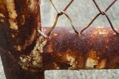 As texturas bonitas do close up abstraem o metal oxidado velho e o fundo de a?o fotografia de stock