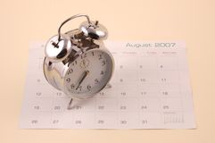 Free As Time Goes By On A Calendar. Stock Photography - 3833412