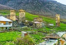 As torres da vila de Chubiani foto de stock royalty free