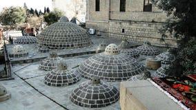 As torres e os telhados dos banhos orientais da Idade Média Imagens de Stock Royalty Free