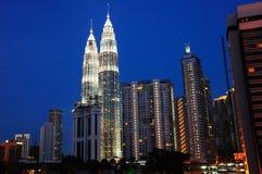As torres gémeas de Petronas imagem de stock