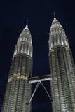 As torres gémeas de Petronas eram o edifício o mais alto Foto de Stock