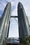 As torres gémeas Kuala Lumpur de Petronas, Malaysia Imagem de Stock Royalty Free