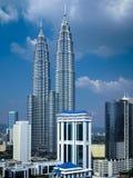 As torres gêmeas de Petronas - Kuala Lumpur - Malásia imagens de stock