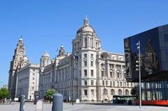 As três benevolências, Liverpool Imagens de Stock