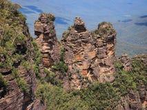 As três irmãs, montanhas azuis, Austrália Fotos de Stock Royalty Free