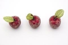 As três maçãs doces Imagens de Stock