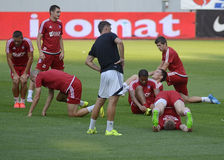 AS Trencin football training Stock Images