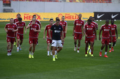 AS Trencin football training Stock Image
