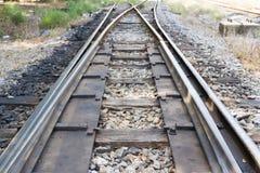 As trilhas de estrada de ferro velhas Imagens de Stock