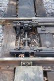 As trilhas de estrada de ferro velhas Fotografia de Stock Royalty Free
