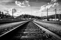 As trilhas de estradas de ferro imagem de stock royalty free
