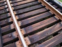 As trilhas do trem fecham-se acima Fotos de Stock Royalty Free