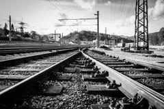 As trilhas railway imagem de stock