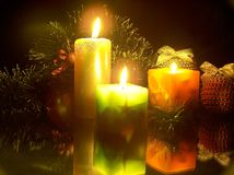As velas do Natal Fotos de Stock Royalty Free