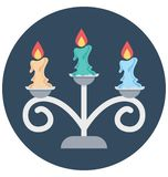 As velas isolaram o uso especial do ícone da ilustração de cor para Dia das Bruxas ilustração stock