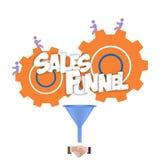 As vendas convergem a ilustração lisa, gráficos Fotos de Stock
