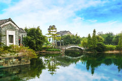 As vilas antigas em Guangdong Foto de Stock
