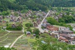 As vilas históricas de Shirakawa-vão e Gokayama na mola, marco do curso de Japão Fotos de Stock Royalty Free