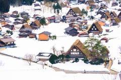 As vilas históricas de Shirakawa-vão, Gifu, Japão Imagens de Stock