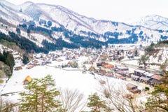 As vilas históricas de Shirakawa-vão, Gifu, Japão Foto de Stock Royalty Free